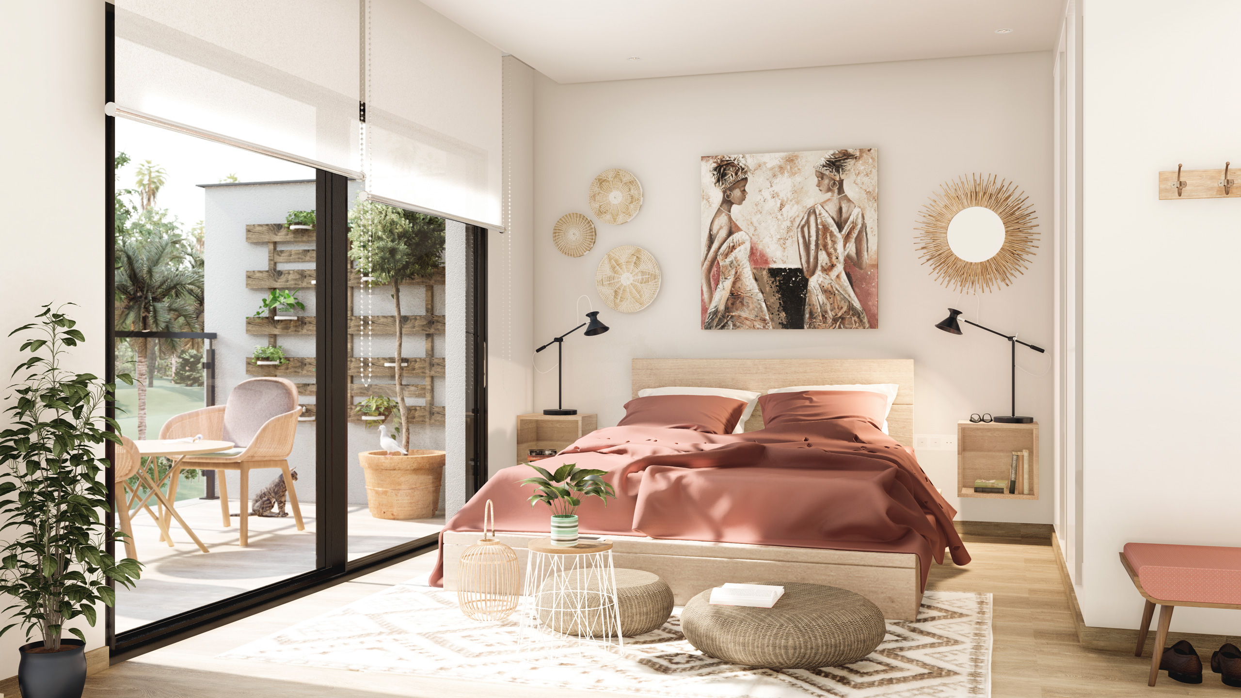 Dormitorio principal. ZENIT Cooperativa de viviendas